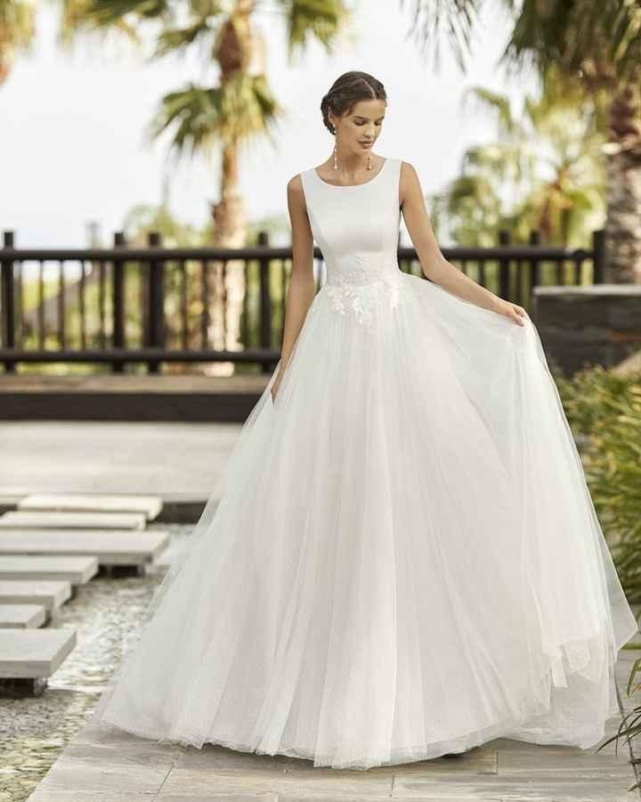 Tul, minimalismo y mangas especiales para novias 2021 - 1