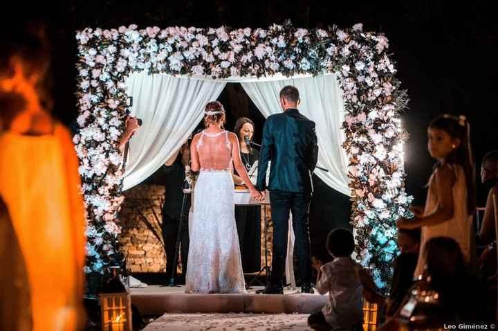 Clásico y elegante, así fue el casamiento de Gastón y Ale 😍 - 1