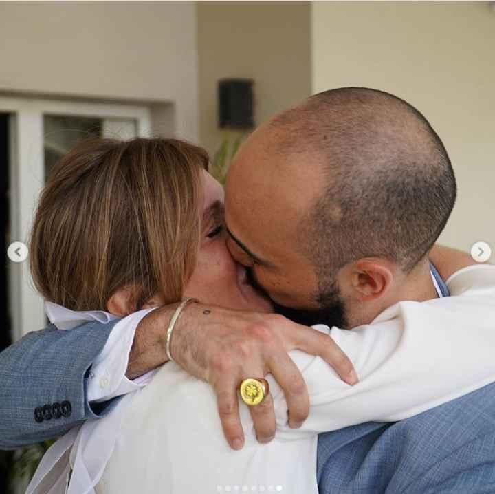 Abel Pintos y Mora Calabrese se casaron por civil ASÍ 👇 - 1
