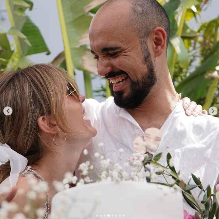 Abel Pintos y Mora Calabrese se casaron por civil ASÍ 👇 - 4