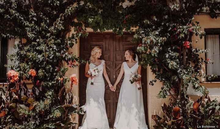 Casamiento de dos chicas: ¿qué look te gusta más? - 4
