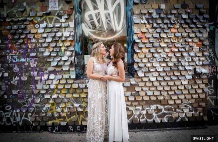 Casamiento de dos chicas: ¿qué look te gusta más? - 5