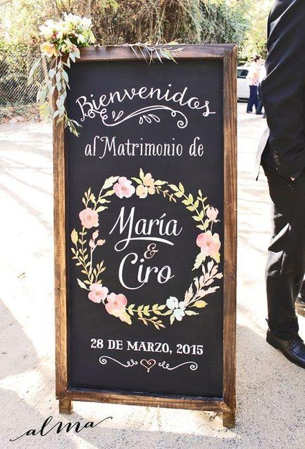 ¡Bienvenidos a nuestro casamiento...! ¡Frases para carteles!🤗 1