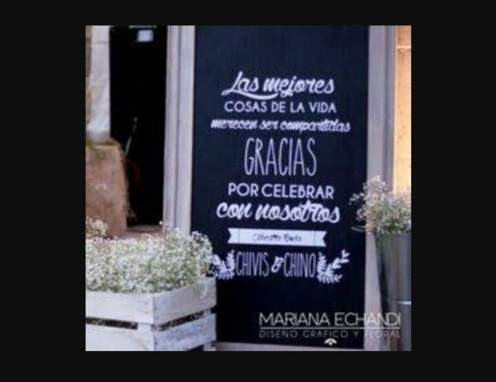 ¡Bienvenidos a nuestro casamiento...! ¡Frases para carteles!🤗 4