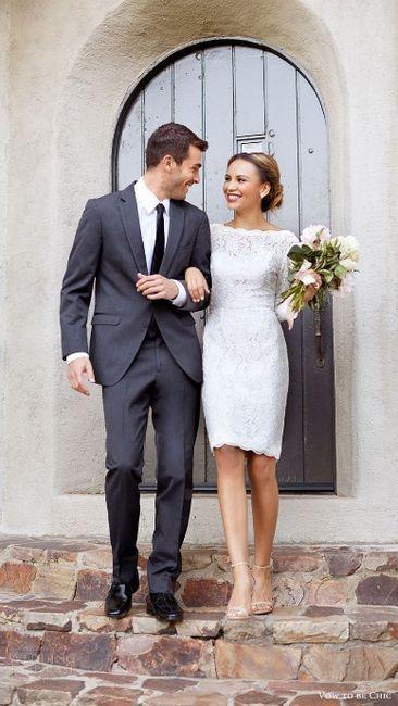 ¡Look para el civil del novio y la novia! 2