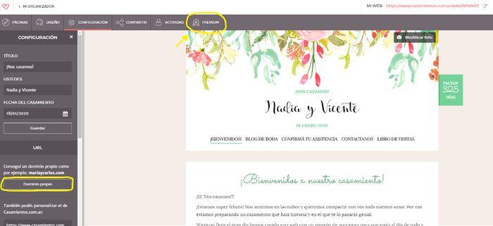 ¿Sabías que podés tener tu Web de Casamiento Premium? 1