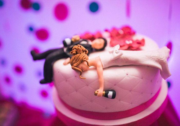 Cake Topper graciosos ¿Si o No? 1