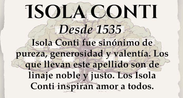 Seremos la familia Isola Conti 2