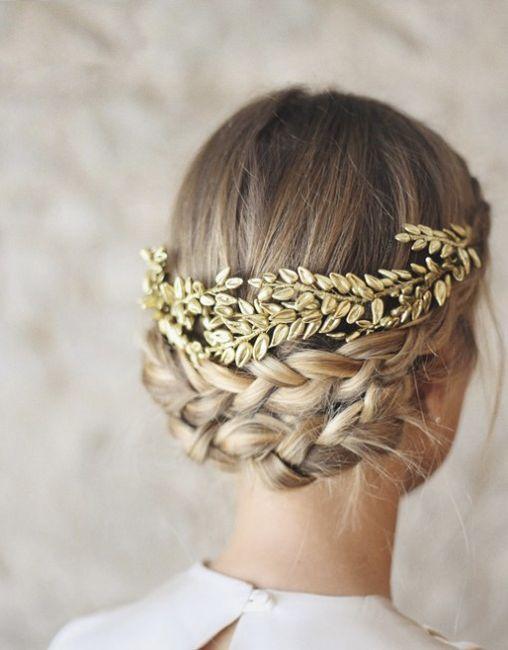 ¿Detalles dorados en tu look de novia? 3