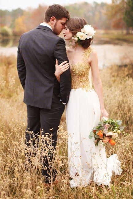 ¿Detalles dorados en tu look de novia? 5