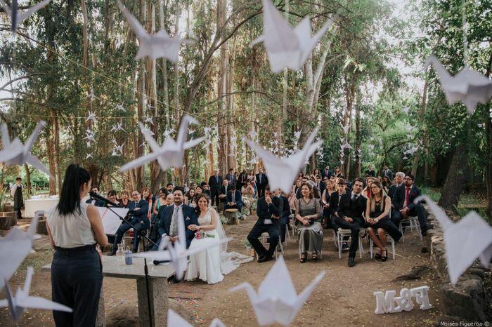 ¿Sumarías grullas a tu ceremonia como lo hicieron Mónica y Ferrán? 1