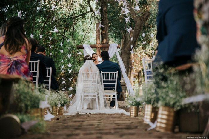 ¿Sumarías grullas a tu ceremonia como lo hicieron Mónica y Ferrán? 2