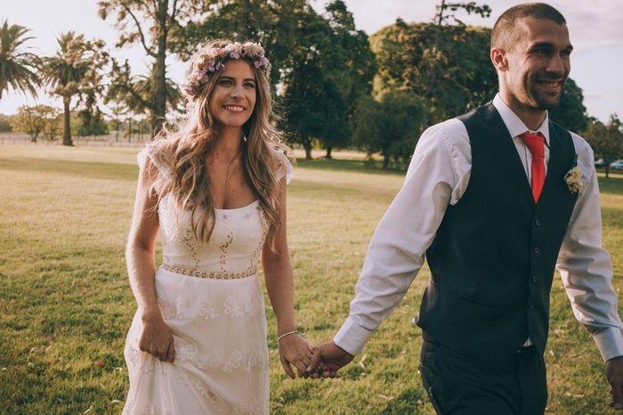 Vestido de novia y traje del novio 4
