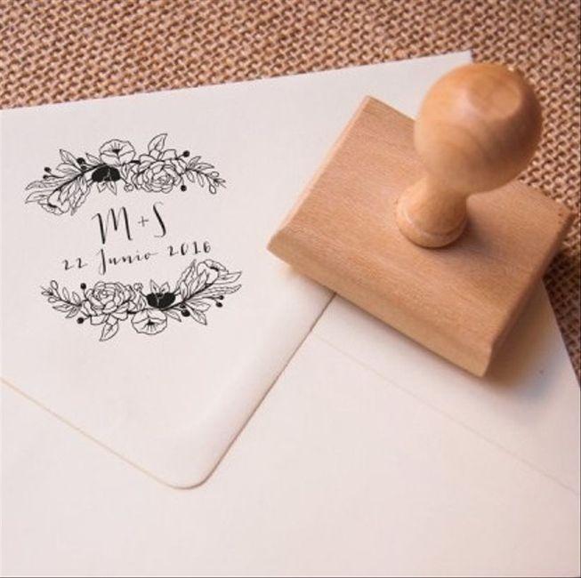 Sello personalizado para tu casamiento ¿Sí o no? 1