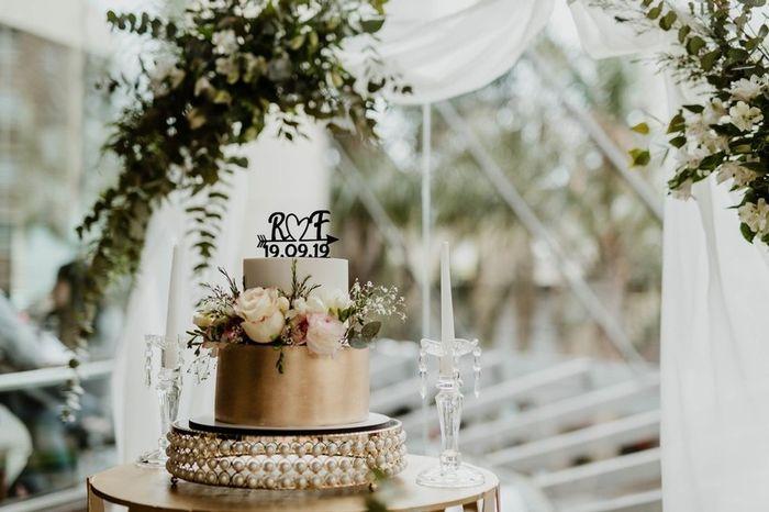 ¿Pondrías la fecha en tu torta de casamiento ASÍ 👇? 1