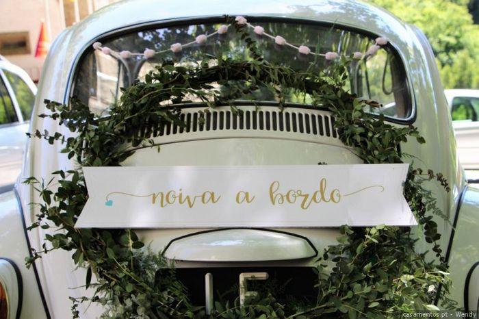 ¿Van a decorar el auto de novios? 1
