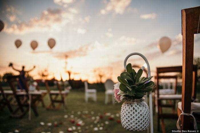 5 Ideas de decoración para un casamiento al aire libre 1