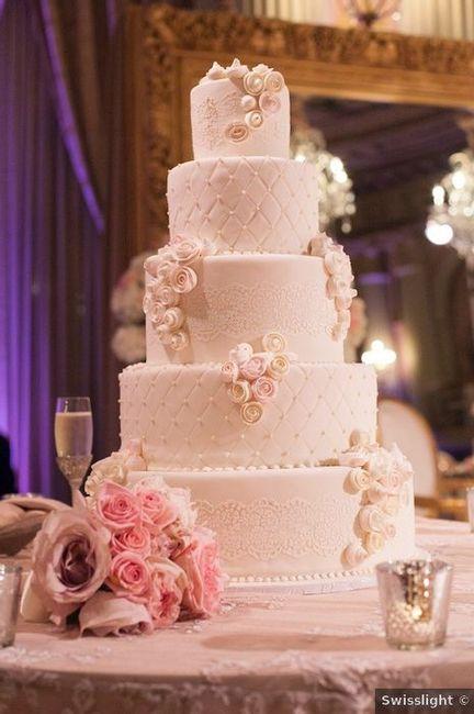 4 Tortas con Fondant para un casamiento elegante 1