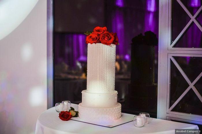 4 Tortas con Fondant para un casamiento elegante 2