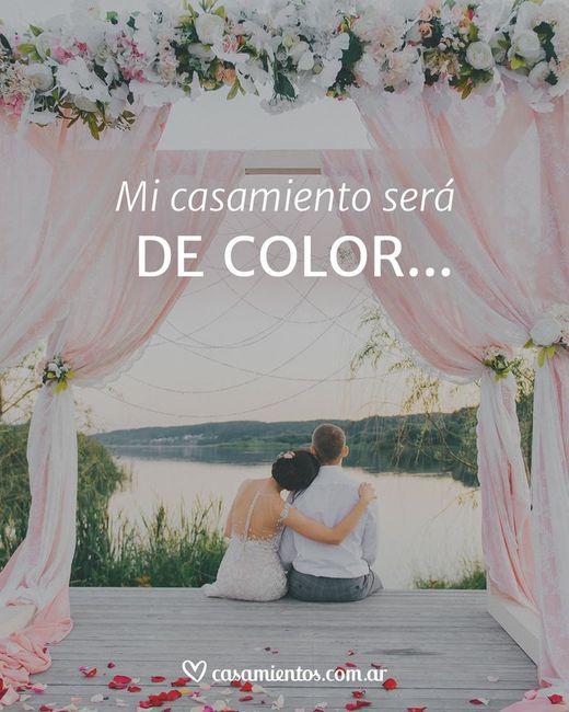El color de nuestro casamiento será_____ 1