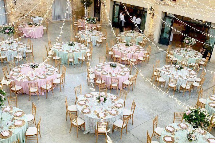 ¿Usarías mantelerías de colores distintos para tu casamiento? 1