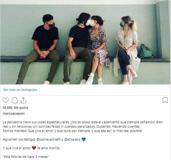 Mónica Antonópulos y Marco Antonio Caponi se casaron en secreto 1