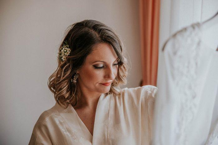 5 Peinados para novias con pelo cortito 1