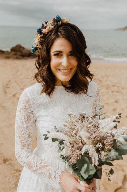 5 Peinados para novias con pelo cortito 5