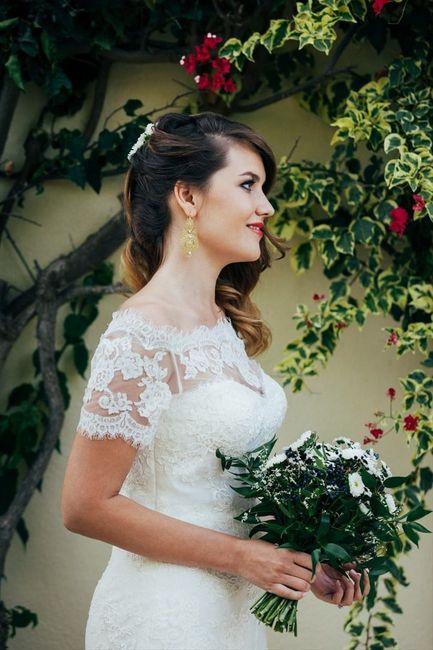 5 Peinados para novias con pelo cortito 4