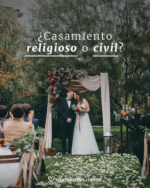 ¿Religioso o Civil? 1