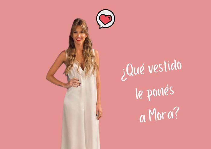 Elegí el vestido de Mora Calabrese: ¿A, B o C? 1