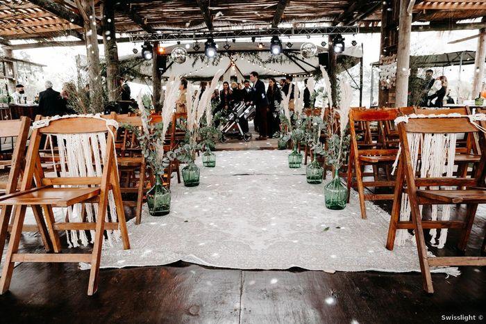 ¿Qué fue primero elegir el lugar de la ceremonia o de la fiesta? 2
