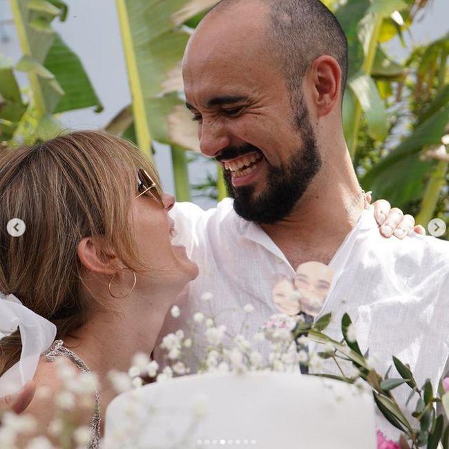 Abel Pintos y Mora Calabrese se casaron por civil ASÍ 👇 7