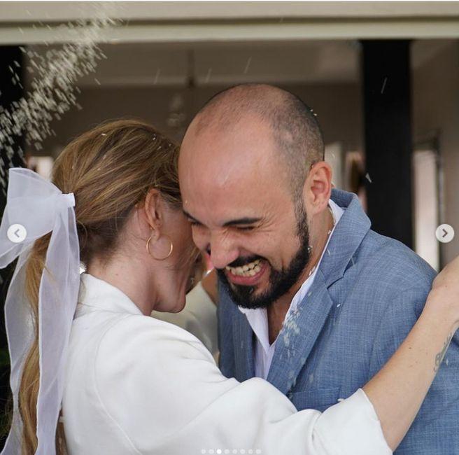 Abel Pintos y Mora Calabrese se casaron por civil ASÍ 👇 4
