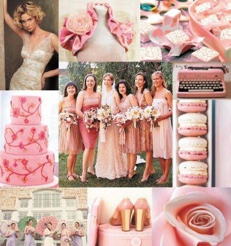 Vestido de novia color rosa viejo