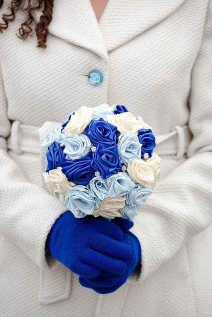 ramo de tela azul