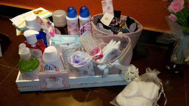 Kit del baño color rosa - 1