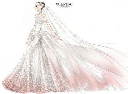 Boceto vestido Valentino