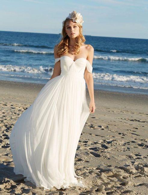 vestidos de novio para playa