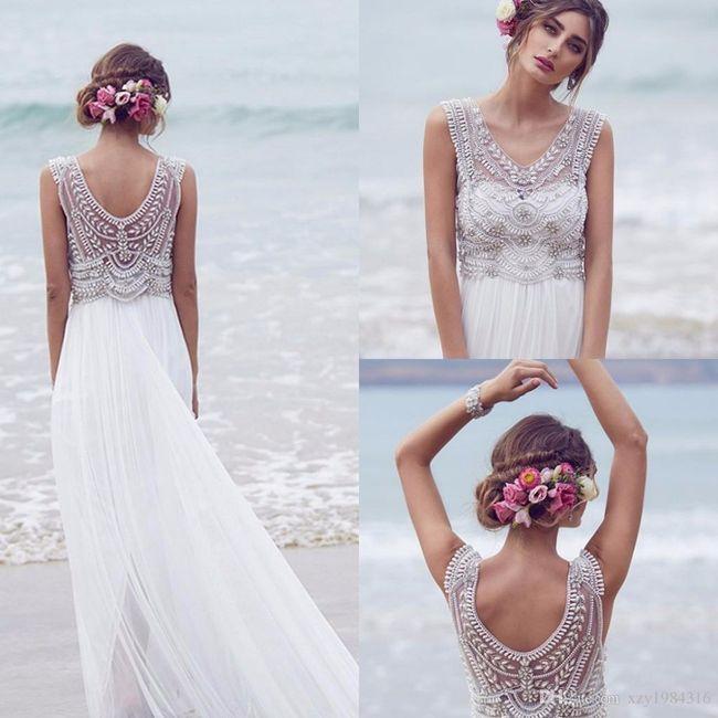 Vestidos de novia para playa 2019