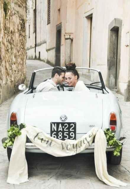 Ideas para decorar el auto el día de la boda - 4