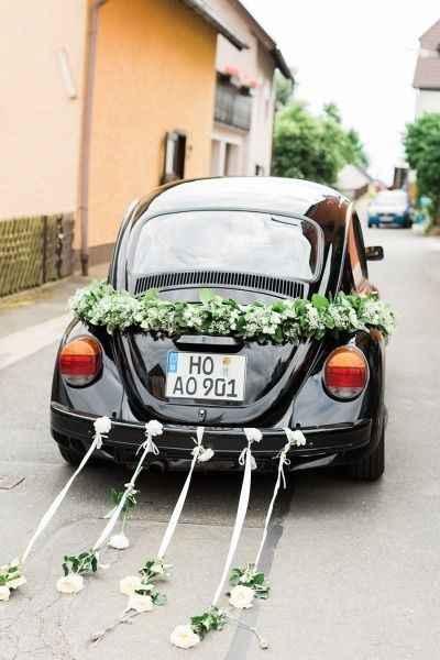Ideas para decorar el auto el día de la boda - 5