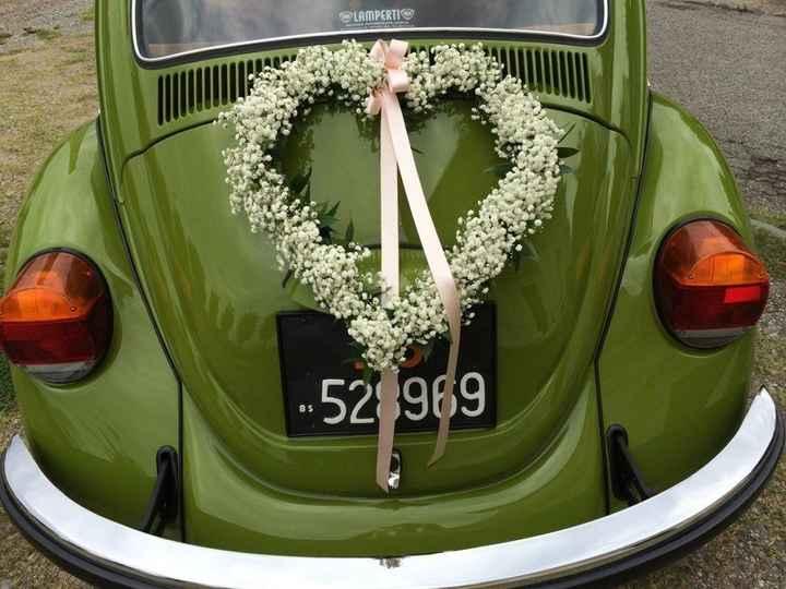 Ideas para decorar el auto el día de la boda - 9