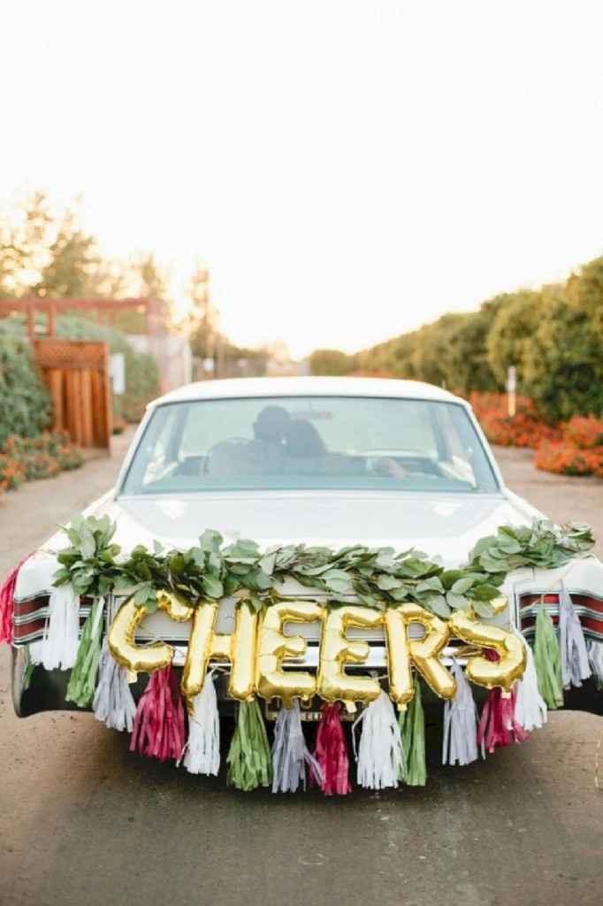 Ideas para decorar el auto el día de la boda - 10