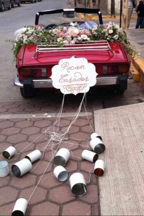 Ideas para decorar el auto el día de la boda - 15