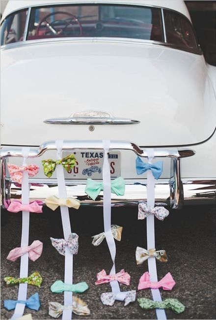 Ideas para decorar el auto el día de la boda - 2