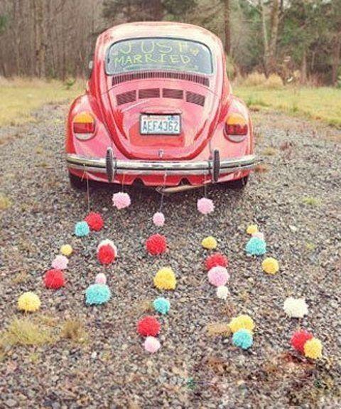 Ideas para decorar el auto el día de la boda - 3