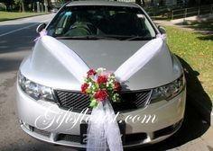 Ideas para decorar el auto el día de la boda 6