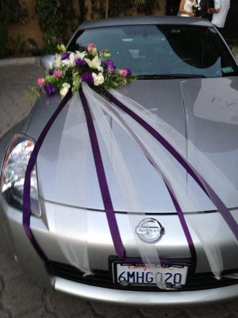 Ideas para decorar el auto el día de la boda 7