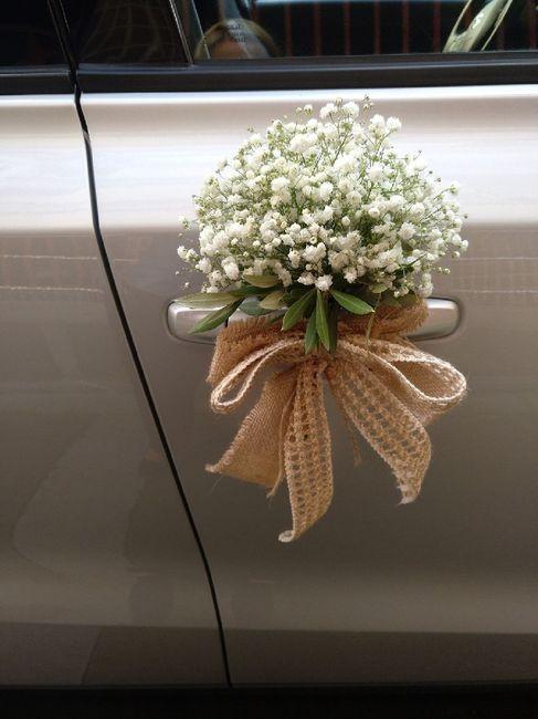 Ideas para decorar el auto el día de la boda 8